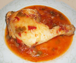 Chicken with pepper sauce