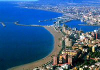 Aerial view of Malaga